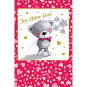 Bilde av Valentinekort Dobbelt Med Rød Konvolutt - Jeg