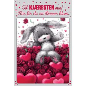 Bilde av Valentinekort Dobbelt Med Rød Konvolutt - Til