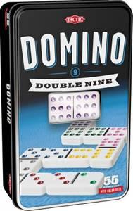 Bilde av Tactic Domino Double Nine I Tinnboks - Europeisk