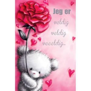 Bilde av Valentinekort Dobbelt Med Rød Konvolutt - Jeg Er