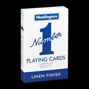 Bilde av Waddingtons Playing Cards Blue Number 1