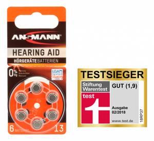 Bilde av Ansmann Høreapparat Batterier AC13