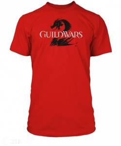 Bilde av T-Skjorte Guild Wars 2 Logo Black On Red