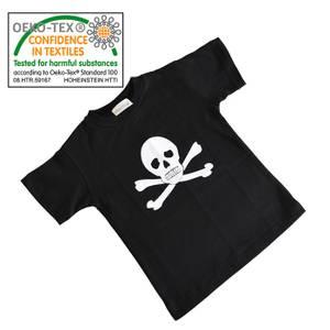 Bilde av T-Skjorte Pirat Svart Til Barn Str XS 2-3År