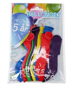 Bilde av Ballonger 5 År 8 Stk