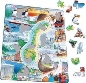 Bilde av Platepusle Norgeskart TuristLarsen