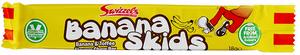 Bilde av Banana Skids Swizzels 18g