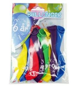 Bilde av Ballonger 6 År 8 Stk