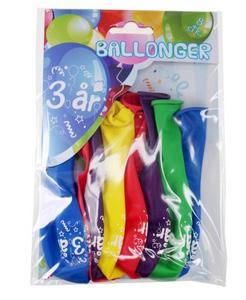 Bilde av Ballonger 3 År 8 Stk