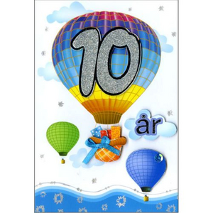 Bilde av Bursdagskort 10 År Med Konvolutt