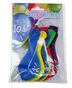 Bilde av Ballonger 10 År 8 Stk
