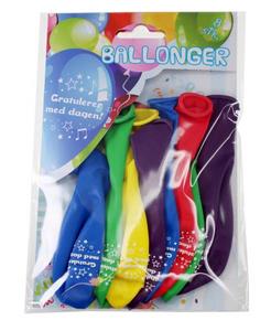 Bilde av Ballonger Gratulerer Med Dagen! 8 Stk