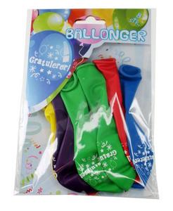 Bilde av Ballonger Gratulerer! 8 Stk