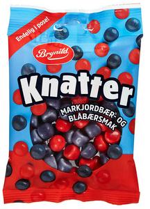 Bilde av Knatter Markjordbær Og Blåbærsmak Brynild 80g