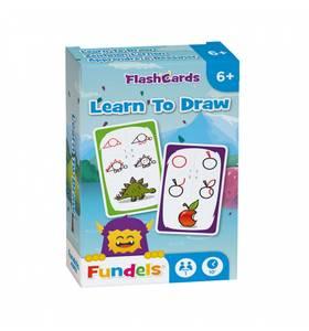 Bilde av Fundels Learn To Draw - Kortspill