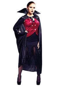 Bilde av Vampyrkjole Med Kappe Kostyme Til Voksen One Size