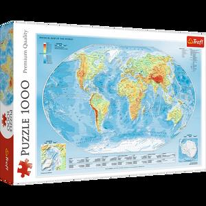 Bilde av Trefl Physical Map Of The World Puslespill (1000