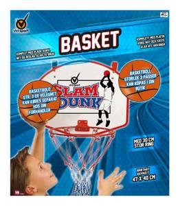 Bilde av Basketkurv Med Plate, Nett Og Fester Vini Sport