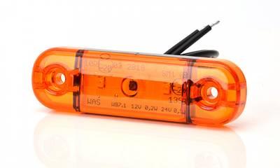 Markeringslys Kort Slim Orange
