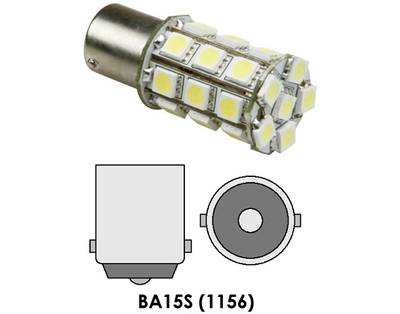 BA15s LED 27 Hvit