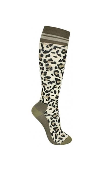 Bilde av Kompresjonsstrømpe Leopard m/ glitter