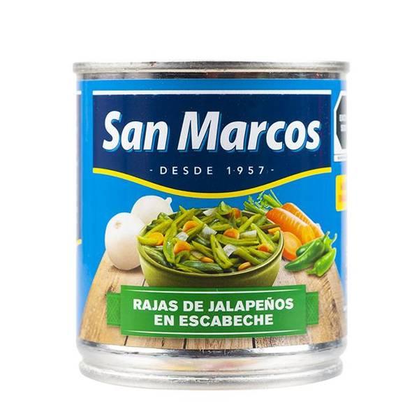 SAN MARCOS Grønne Jalapeños i strimler - Rajas de Chiles Jalapeñ