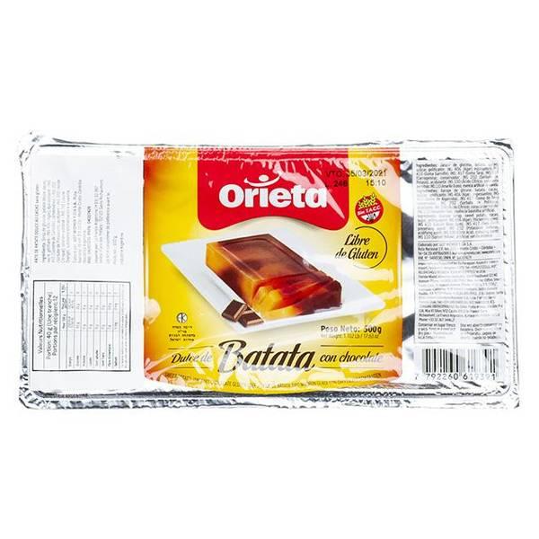ORIETA Dulce de Batata con Chocolate 500g