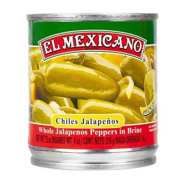 EL MEXICANO Chiles Jalapeños Enteros215g