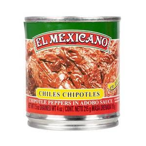 Bilde av EL MEXICANO Chiles Chipotles Enteros 215g