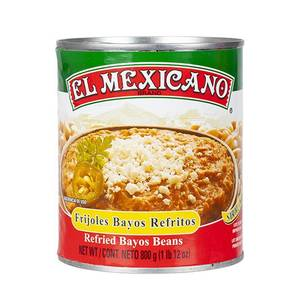 Bilde av EL MEXICANO Frijoles Bayos Refritos 800g