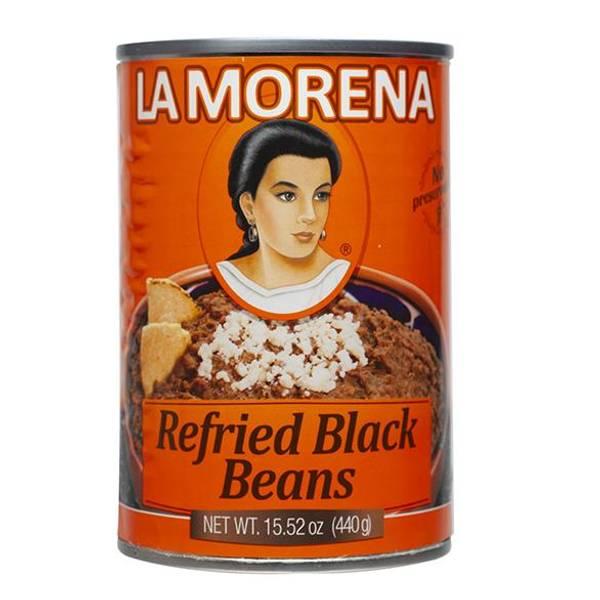 LA MORENA Frijoles Negros Refritos440g