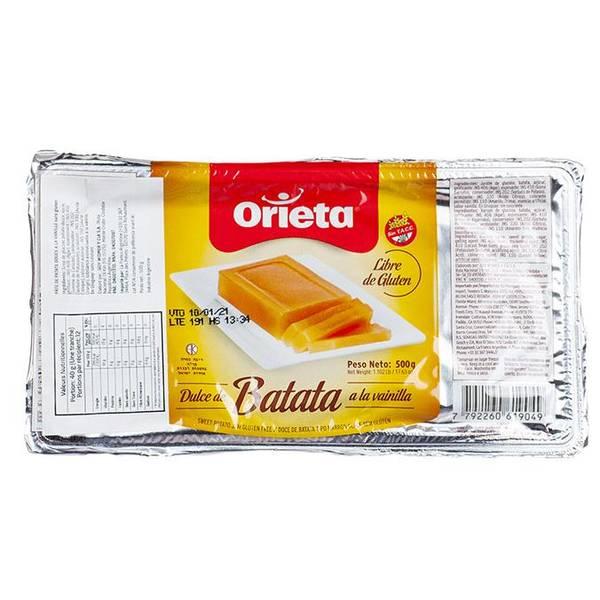 ORIETA Dulce de Batata Vainilla 500g