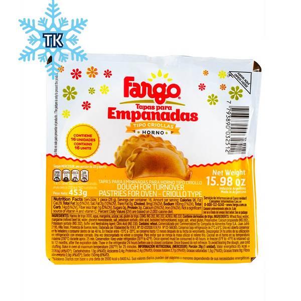 Tapas para Empanadas Criollas - Horno- FARGO 453g