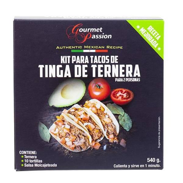 GOURMET PASSION Kit Tacos de Tinga de Ternera 540g