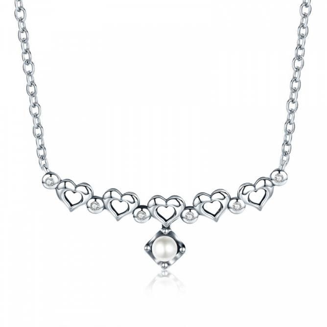 Bilde av Smykke Hjerter med Perle