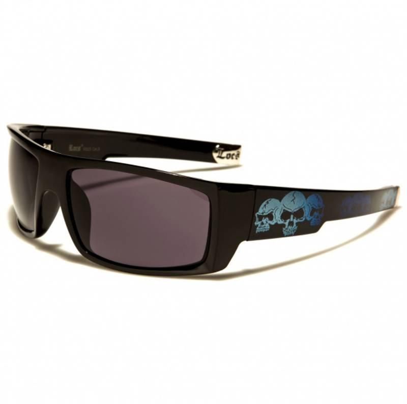 Bilde av Locs solbrille hodeskalle blå
