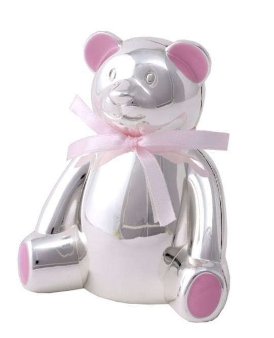 Bilde av Dåpsgave Bamsebøsse Rosa