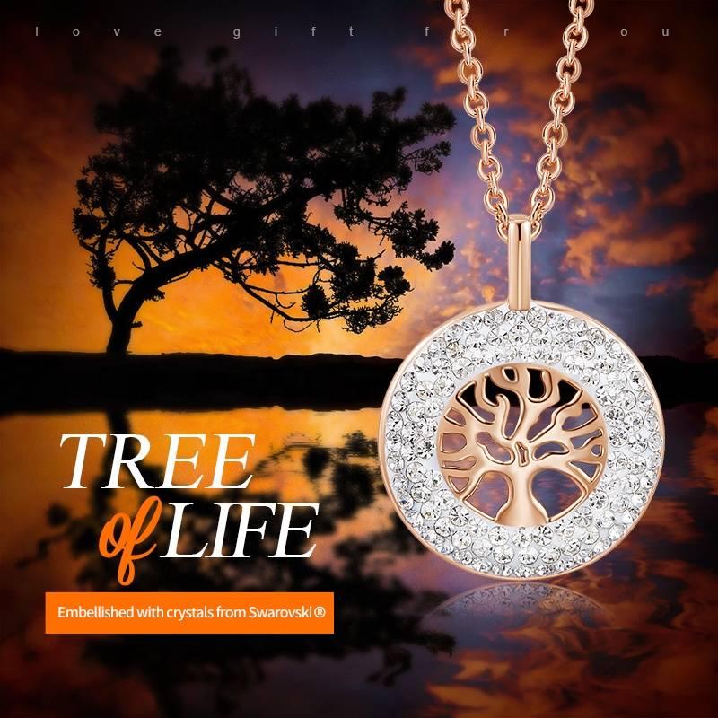 Bilde av CDE Tree of Life Swarovski Halskjede