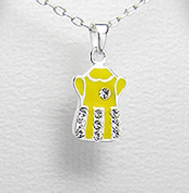 Bilde av Sølvanheng barn, Gul kjole