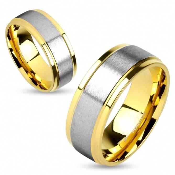 Bilde av Gullbelagt ring med børstet