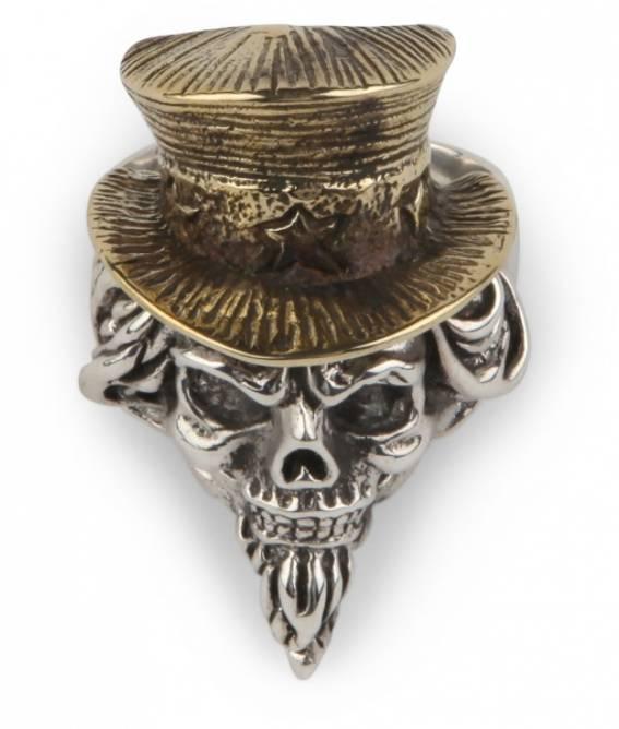Bilde av Sølvring Herre Hodeskalle