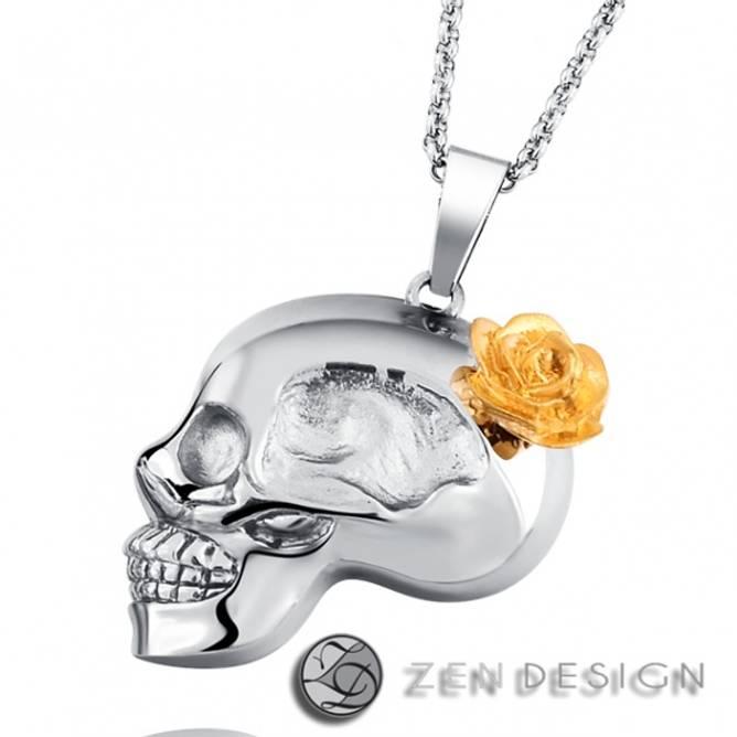 Bilde av Kjede, Rose Skull