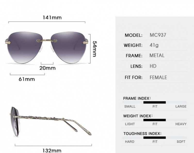 Bilde av HDCRAFTER lilla solbriller med dekorerte stenger.