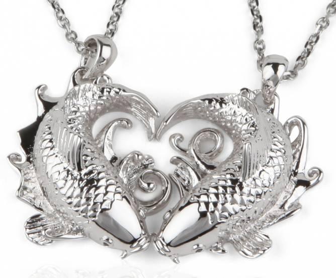 Bilde av Parkjede i sølv Koi of Love
