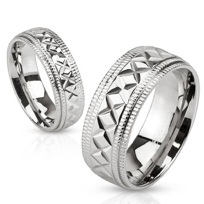 Bilde av Ring i stål, sølvfarget