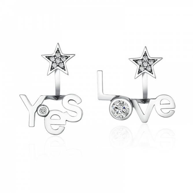 Bilde av Sølvøredobber Yes/Love
