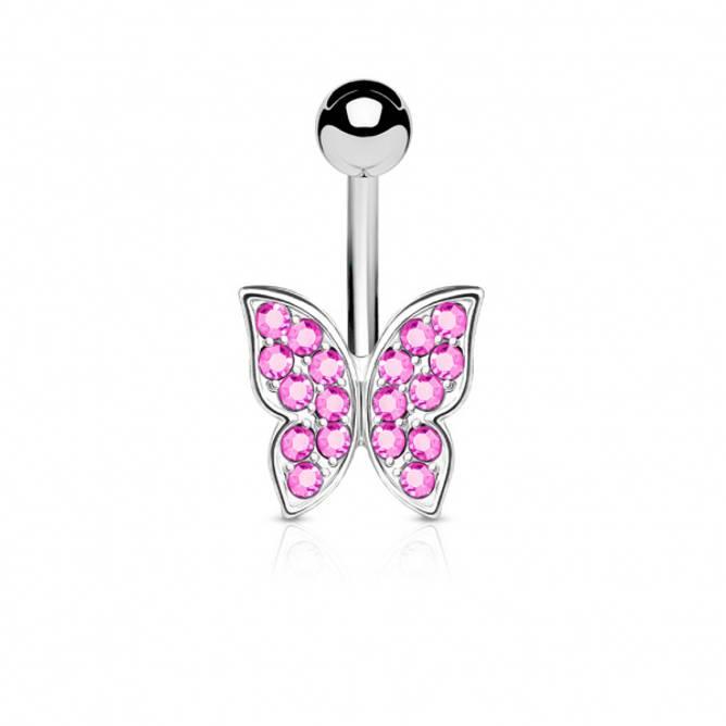 Bilde av Piercing, Sommerfugl rosa