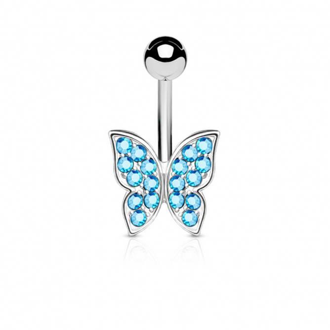 Bilde av Piercing, Sommerfugl blå