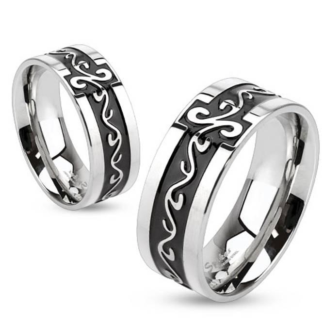 Bilde av Ring i stål, Tribal Swirls