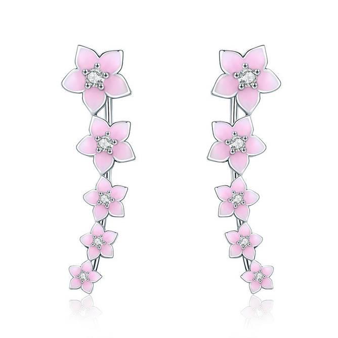 Bilde av Ear line rosa blomst